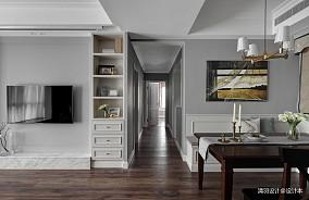 精美88平简约三居过道装修效果图三居现代简约家装装修案例效果图