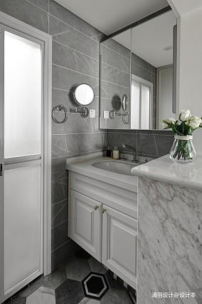 优美123平简约三居卫生间装修美图三居现代简约家装装修案例效果图