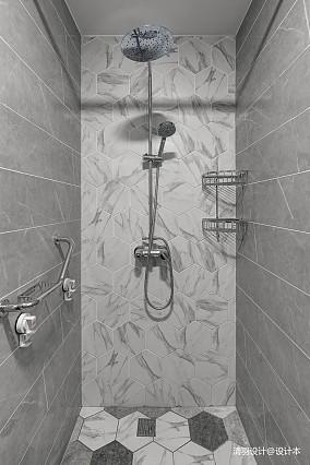 优美77平简约三居卫生间装修装饰图三居现代简约家装装修案例效果图