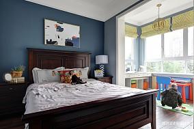 浪漫81平简约三居卧室布置图三居现代简约家装装修案例效果图