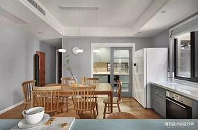 精美101平简约三居餐厅装修效果图三居现代简约家装装修案例效果图