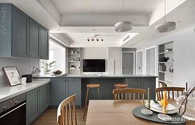 轻奢82平简约三居餐厅设计案例三居现代简约家装装修案例效果图