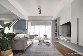 简洁113平简约三居客厅设计案例三居现代简约家装装修案例效果图