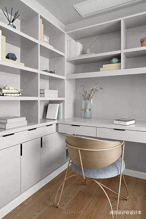 优雅126平简约三居书房效果图片大全三居现代简约家装装修案例效果图