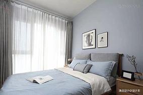 大气109平简约三居卧室美图三居现代简约家装装修案例效果图