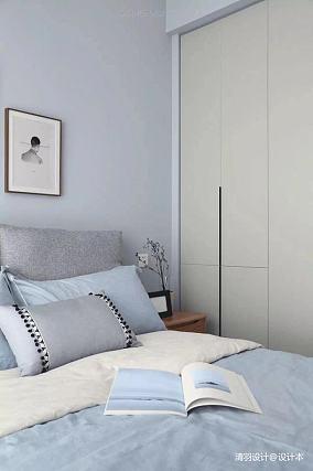 浪漫83平简约三居卧室装修图三居现代简约家装装修案例效果图