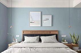 温馨88平简约三居卧室装饰图片三居现代简约家装装修案例效果图
