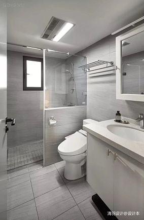 精致93平简约三居卫生间装修图三居现代简约家装装修案例效果图