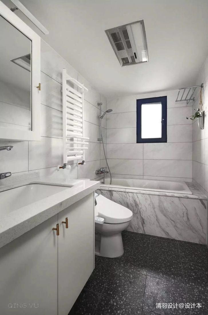精美84平简约三居卫生间案例图卫生间马桶现代简约卫生间设计图片赏析
