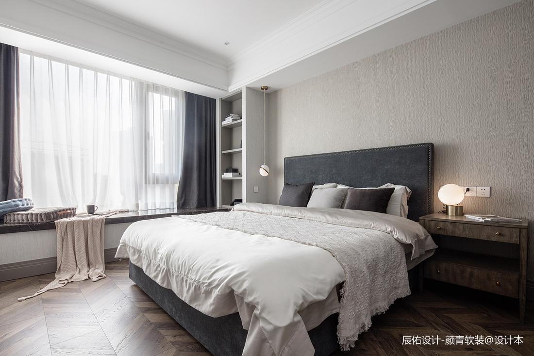 悠雅119平混搭三居卧室效果图欣赏卧室