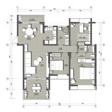 质朴92平现代四居装修装饰图