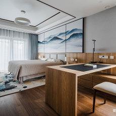 典雅674平中式别墅卧室装修图片