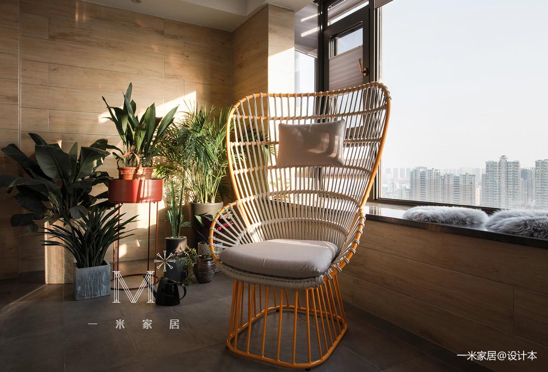 明亮129平简约四居阳台美图阳台现代简约阳台设计图片赏析