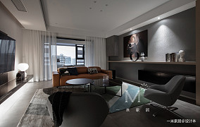 精致99平简约四居装修效果图四居及以上现代简约家装装修案例效果图