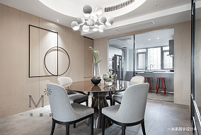 典雅143平简约四居餐厅装修案例四居及以上现代简约家装装修案例效果图