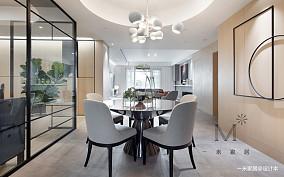 华丽144平简约四居餐厅装修图片四居及以上现代简约家装装修案例效果图
