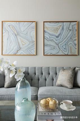 温馨128平简欧三居客厅设计美图三居北欧极简家装装修案例效果图