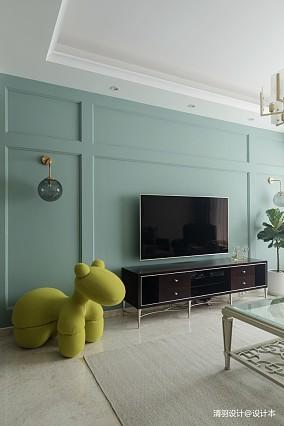 温馨103平简欧三居客厅装修装饰图