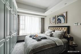 浪漫121平简欧三居卧室装饰美图三居北欧极简家装装修案例效果图