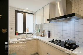 温馨84平北欧二居厨房布置图二居北欧极简家装装修案例效果图