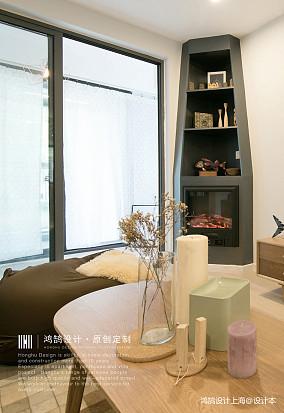 明亮59平北欧二居客厅设计效果图二居北欧极简家装装修案例效果图