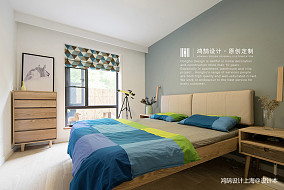 精美86平北欧二居卧室实拍图二居北欧极简家装装修案例效果图