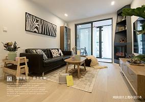 明亮70平北欧二居客厅实拍图二居北欧极简家装装修案例效果图