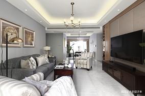 典雅88平简约三居客厅设计美图