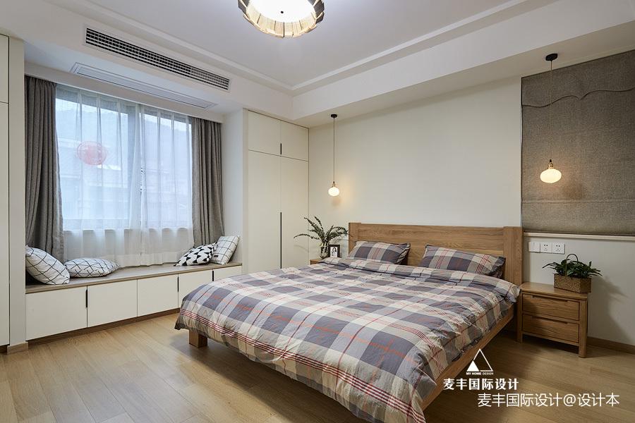 日式北欧主卧室设计图卧室窗帘日式卧室设计图片赏析