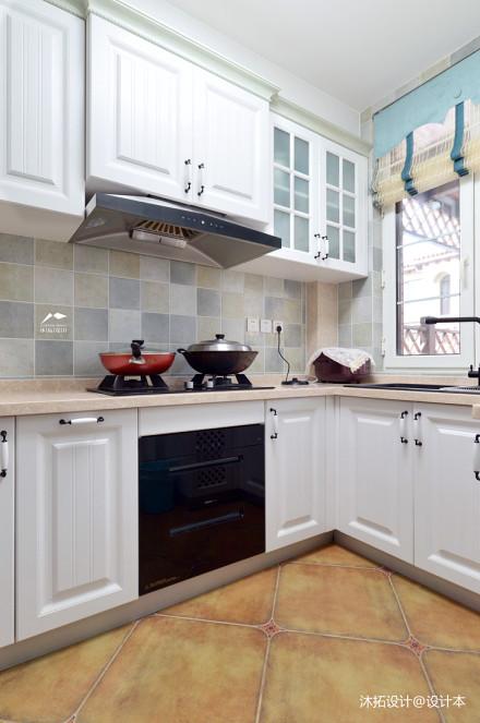 精美939平美式别墅厨房装修美图餐厅