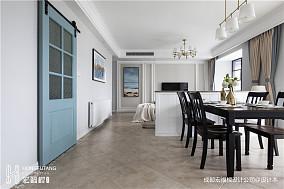 简洁122平美式三居餐厅效果图厨房设计图片赏析