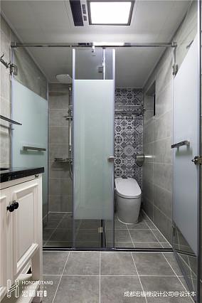 悠雅105平美式三居卫生间装潢图卫生间美式经典设计图片赏析