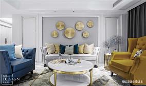 气质美式客厅背景墙图片