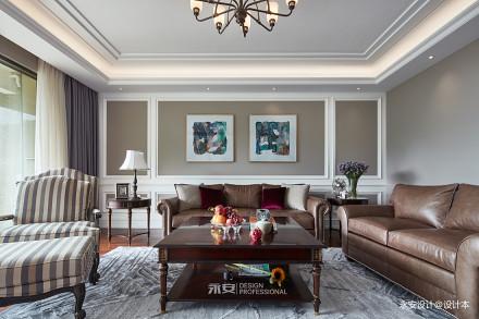 经典美式客厅沙发图片四居及以上美式经典家装装修案例效果图