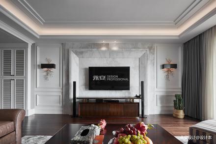 经典美式背景墙设计图