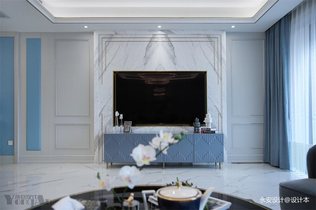 精致法式背景墙设计图客厅电视背景墙欧式豪华客厅设计图片赏析