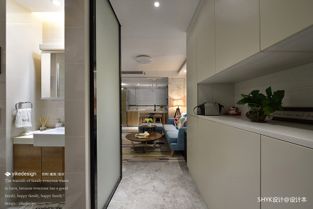 优雅76平现代复式玄关美图复式现代简约家装装修案例效果图