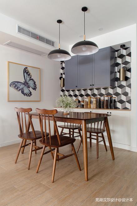 优雅97平北欧三居餐厅实景图片厨房