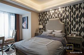 优美83平美式三居装修图三居美式经典家装装修案例效果图