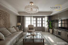 温馨85平美式三居装修图三居美式经典家装装修案例效果图