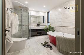 优雅108平美式三居装饰图片三居美式经典家装装修案例效果图