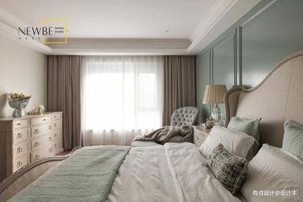 轻奢72平美式三居装修案例