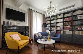 悠雅180平美式复式客厅案例图复式美式经典家装装修案例效果图