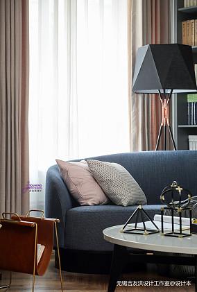 精致64平美式复式客厅装潢图复式美式经典家装装修案例效果图