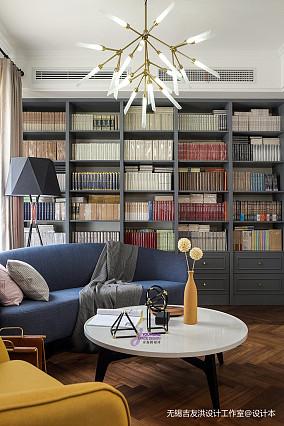 温馨43平美式复式客厅装饰美图复式美式经典家装装修案例效果图