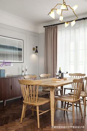 大气73平美式复式餐厅装修美图复式美式经典家装装修案例效果图