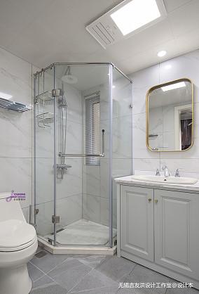 温馨73平美式复式卫生间设计美图复式美式经典家装装修案例效果图
