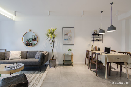 典雅22平现代小户型客厅装修设计图