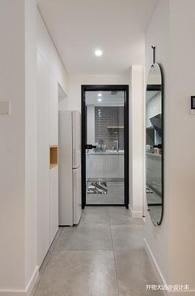 温馨37平现代小户型玄关设计图一居现代简约家装装修案例效果图