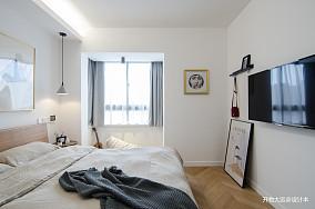 典雅35平现代小户型卧室装潢图一居现代简约家装装修案例效果图